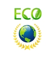 save eco earth symbol isolated vector image