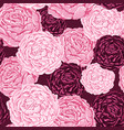 seamless pattern pink and burgundy flowers vector image vector image
