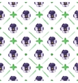Seamless watercolor pattern with pansies on the vector image vector image