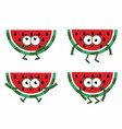 set cartoon watermelon vector image vector image