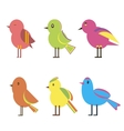 Set Color Birds vector image vector image