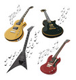 set electric guitars makes a sound collection vector image vector image