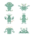 Set of flat moster icons10 vector image vector image