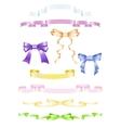 Set of ribbons and bows vector image vector image