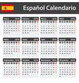 spanish calendar for 2018 scheduler agenda or vector image vector image