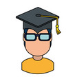 student graduated avatar character vector image vector image