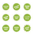 sugar free icon set natural food without sugar vector image vector image