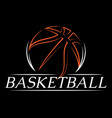 template with basketball ball colored vector image vector image