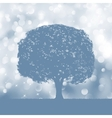 tree silhouette blue and white landscape eps 8 vector image