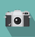 vintage camera icon with long shadow vector image vector image