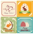 vintage easter cards set easter background in vector image vector image