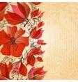 Vintage floral background cardboard texture vector image