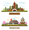 Welcome to Japan and China vector image