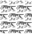 Wild tiger outline seamless pattern vector image