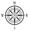 wind rose navigation runic compass vegvisir vector image