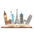 world landmarks icon vector image vector image