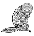 Zentangle Australian platypus totem for adult anti vector image vector image