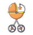 baby carriage star icon cartoon style vector image