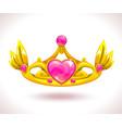 beautiful golden princess crown vector image