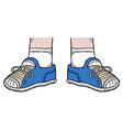 blue shoes vector image