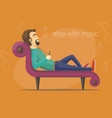 relax with music vector image