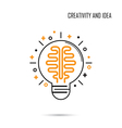 Creative Brain Idea Concept Background vector image