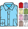 Folded Shirts Collection vector image
