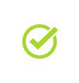 tick icon symbol green checkmark isolated vector image