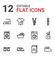 12 laundry icons vector image vector image