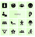 14 people icons vector image vector image