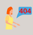 404 error page not found concept of people using vector image