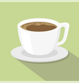 a cup of coffee flat style vector image vector image