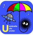 ABC umbrella ufo urchin vector image vector image