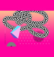 abstract background template with op art elements vector image vector image