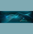 abstract background with a colored dynamic wave vector image vector image