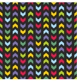 Aztec Chevron seamless dark colorful pattern vector image vector image