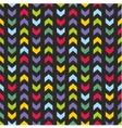 Aztec Chevron seamless dark colorful pattern vector image
