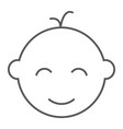 baby boy thin line icon baby and child vector image vector image