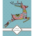 Background with jumping deer vector image vector image