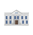 bank architecture facade isolated flat style vector image vector image