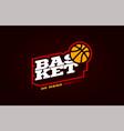 basketball mascot modern professional sport vector image vector image
