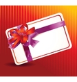 beautiful card with ribbons vector image vector image