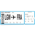 blue boarding pass ticket travel concept vector image vector image