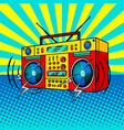 boombox comic book style vector image vector image