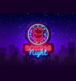 boxing neon sign boxing night design vector image vector image