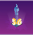 broadcasting tower for high speed internet vector image