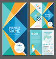 Business brochure modern design template vector image