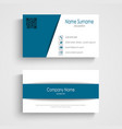 business card with design blue white stripes vector image vector image