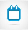 calendar icon - blank vector image vector image