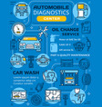 car diagnostics and maintenance infographics vector image vector image